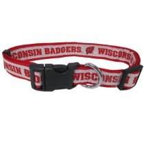 Wisconsin Badgers Woven Dog Collar
